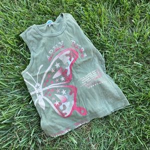 Vtg Y2K cadet Kelly graphic tank top lg